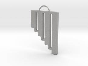 Pan Flute Pendant in Aluminum