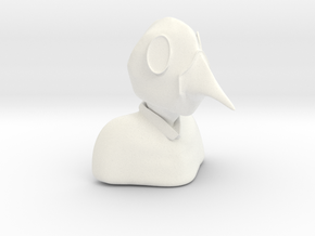Plague Doctor Bust in White Strong & Flexible Polished