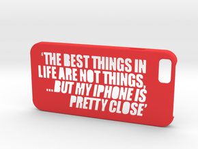 Iphone6 Case 'Things' in Red Strong & Flexible Polished