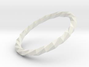 Twistium - Bracelet P=160mm in White Natural Versatile Plastic