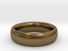 Plain Ring v1 Size11-7mm-3.2 in Natural Bronze