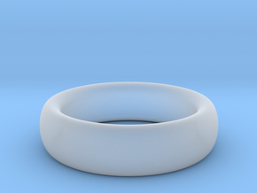 Plain Ring flat inside size11 w 7mm  t 3.2mm  in Smooth Fine Detail Plastic