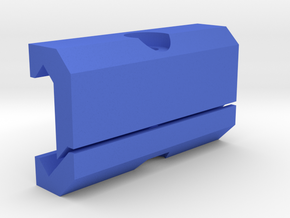 DIY Picatinny Mount (50 mm) in Blue Strong & Flexible Polished