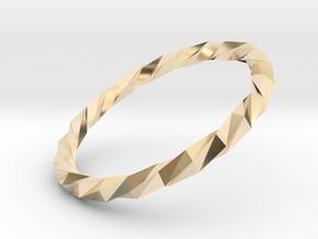 Twistium - Bracelet P=160mm in 14K Yellow Gold