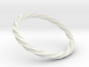 Twistium - Bracelet P=170mm in White Natural Versatile Plastic