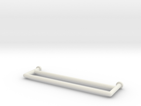 Towel Rail Double 1:12 in White Natural Versatile Plastic