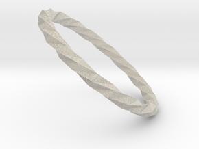 Twistium - Bracelet P=180mm in Natural Sandstone