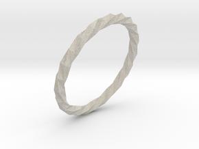 Twistium - Bracelet P=190mm in Natural Sandstone
