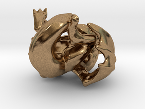 Infant Dragon Pendant in Natural Brass