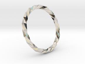 Twistium - Bracelet P=200mm in Platinum