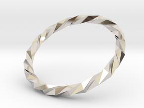 Twistium - Bracelet P=210mm in Platinum