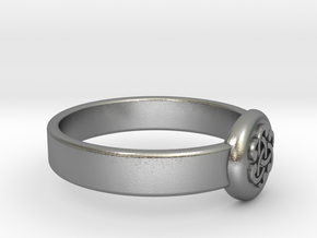 Ø0.733 inch/ Ø18.61 mm Celtic Ring in Natural Silver