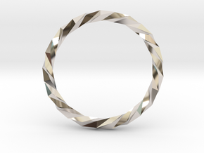 Twistium - Bracelet P=230mm in Rhodium Plated Brass