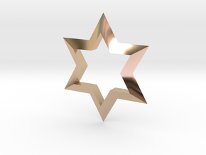 Star in 14k Rose Gold Plated Brass