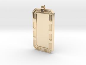 Customized Dog-tag/KeyChain in 14k Gold Plated Brass