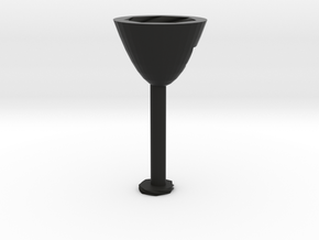 Abstact Wine Glass  in Black Natural Versatile Plastic