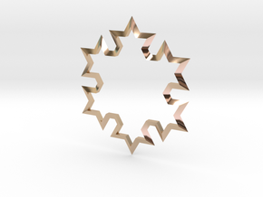 SnowFlake in 14k Rose Gold Plated Brass