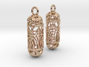 FitzLogo Filigree Earrings in 14k Rose Gold Plated