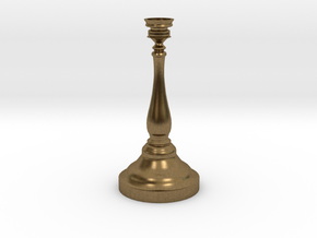 Tiny Birthday Candle Candlestick in Natural Bronze