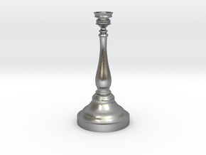 Tiny Birthday Candle Candlestick in Natural Silver