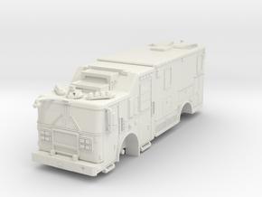 1/64 FDNY seagrave communication truck in White Natural Versatile Plastic