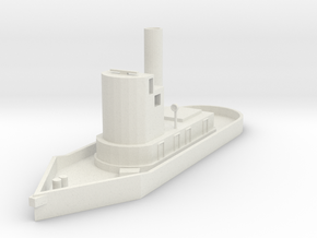 N scale steam tugboat in White Natural Versatile Plastic
