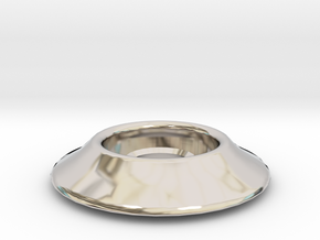 "1/4"" Riser Washer in Rhodium Plated Brass"