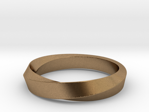 Mobius Narrow Ring I (Size 6) in Natural Brass