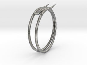 """b. """"Life of a worm"""" Part 2 - """"Soil mates"""" bracele in Natural Silver: Medium"""