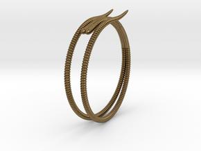 """Life of a worm"" Part 2 - ""Soil mates"" bracelet in Natural Bronze: Medium"