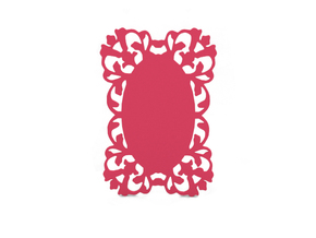 Gift tag in Pink Processed Versatile Plastic
