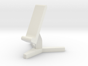 Phone Seat in White Natural Versatile Plastic