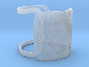 Soft Wave Bracelet in Smooth Fine Detail Plastic