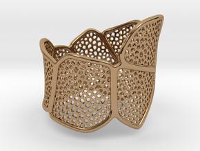 Double Voronoi Bracelet (v1) in Polished Brass