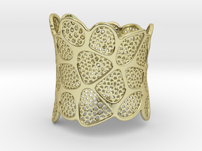 Double Voronoi Bracelet (v2) in 18k Gold