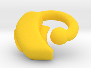 Makies Hearing Aid: RIGHT EAR in Yellow Processed Versatile Plastic