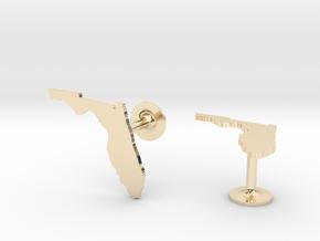 Florida State Cufflinks in 14k Gold Plated Brass
