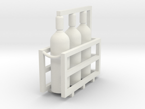 Welding & Gas High Pressure Cylinders In Rack 1-87 in White Natural Versatile Plastic