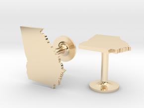 Georgia State Cufflinks in 14k Gold Plated Brass