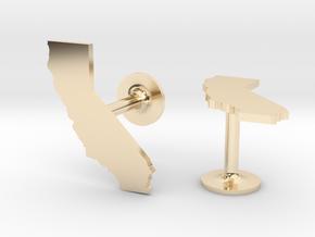 California State Cufflinks in 14k Gold Plated Brass