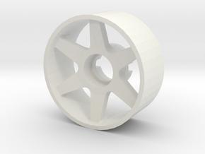 Llanta Mini-Z Delantera Offset 0 - 20mm in White Strong & Flexible
