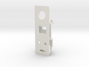 Starplat - Faceplate for 12mm Fire Switch in White Natural Versatile Plastic