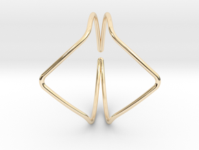 YOUNIVERSAL YY Bracelet d=65mm C-profile in 14K Yellow Gold
