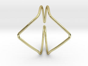 YOUNIVERSAL YY Bracelet d=65mm C-profile in 18k Gold Plated Brass