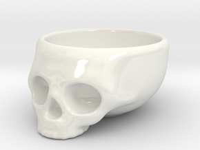 The Cranium Mug in Gloss White Porcelain