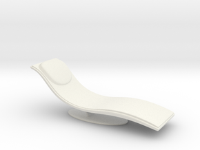 1/32 Girl sitting Chair Part of Chair 017-20 in White Natural Versatile Plastic