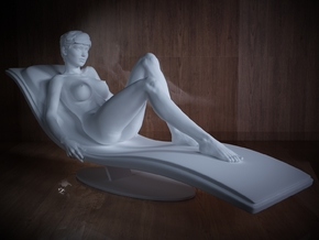1/32 Girl sitting Chair Part of Girl 017 in Frosted Ultra Detail