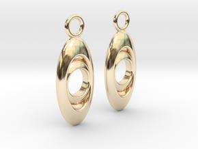 Drop earrings in 14k Gold Plated Brass