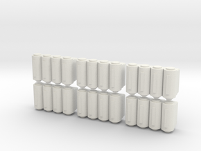 Gothic Spaceship Freight Module V2 [Pack of 6] in White Strong & Flexible