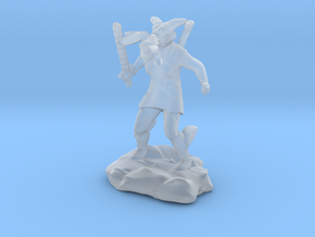 Female Dragonborn Cleric Breathing Lightning in Smooth Fine Detail Plastic